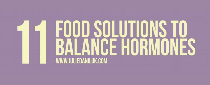 Foods that balance Hormones [Infographic]