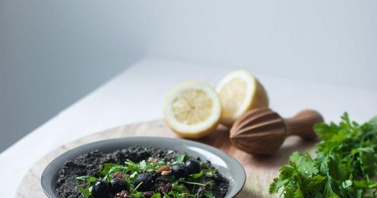 Tapenade vegano con cilantro