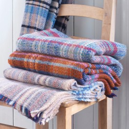 Welsh wool recycled blanket available from www.naturalcollection.com