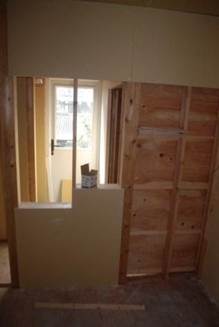 Windows through walls to maximise natural light