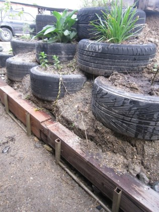 car tyres for landscaping