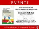 Cricket@Feltrinelli