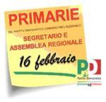 16 febbraio primarie pd