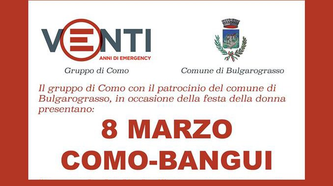 8 marzo/  Como-Bangui