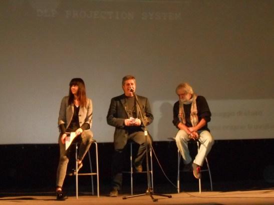 Da sinistra: Elisa Roncoroni, Enzo D'Antuono, Paolo Carrisi