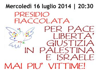 16 luglio/ Per Pace, libertà e giustizia in Palestina