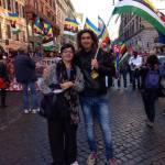 Francesca Chiavacci (presidente nazionale Arci) alla manifestazione della Cgil