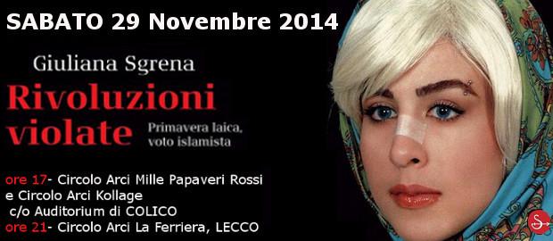 29 novembre/ Giuliana Sgrena a Colico e a Lecco con l'Arci