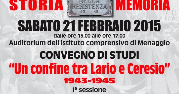 21 febbraio/ Un confine tra Lario e Ceresio 1943-1945