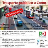24 marzo/ Pd Como / Trasporto pubblico a Como: Obiettivo 2020