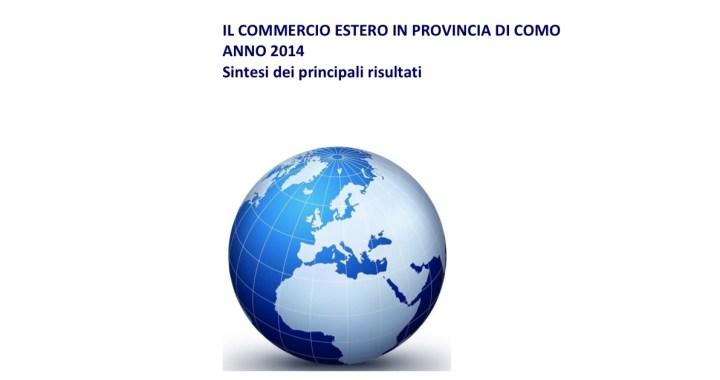 Il commercio estero in provincia di Como