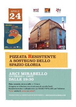 24 aprile/ Pizzata Resistente per Xanadù