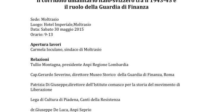 30 maggio/ Il corridoio umanitario italo-svizzero tra il 1943-45 e il ruolo della Guardia di Finanza