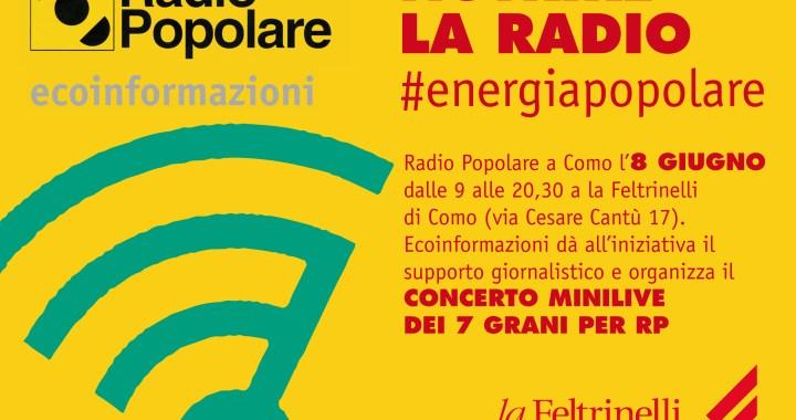 8 giugno/ Radio Popolare con Zerocalcare a la Feltrinelli di Como