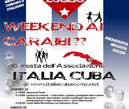 24, 25, 26 Luglio/ Festa di Italia Cuba
