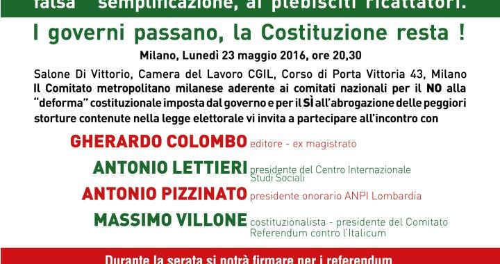 23 maggio/ Milano/ C'è chi dice NO