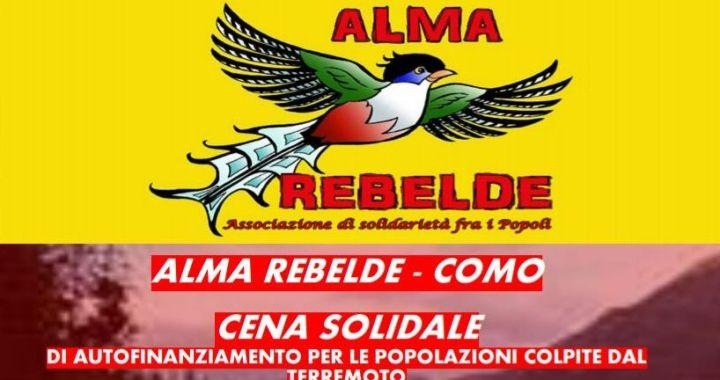 21 marzo/ Alma rebelde: cena solidale di autofinanziamento pro popolazioni terremotate
