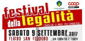 9 settembre/ Festival della legalità a Cantù