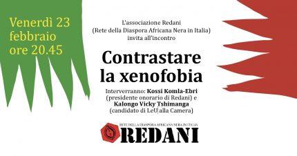 """23 febbraio/ Incontro """"Contrastare la xenofobia"""""""