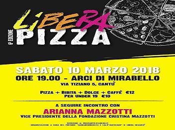 10 marzo/ Cantù/ Verso il 21 marzo: Libera pizza 2018