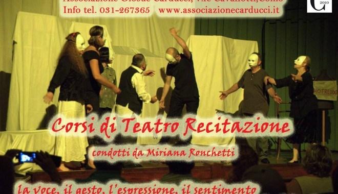 17 aprile/ Corsi di Teatro recitazione al Carducci