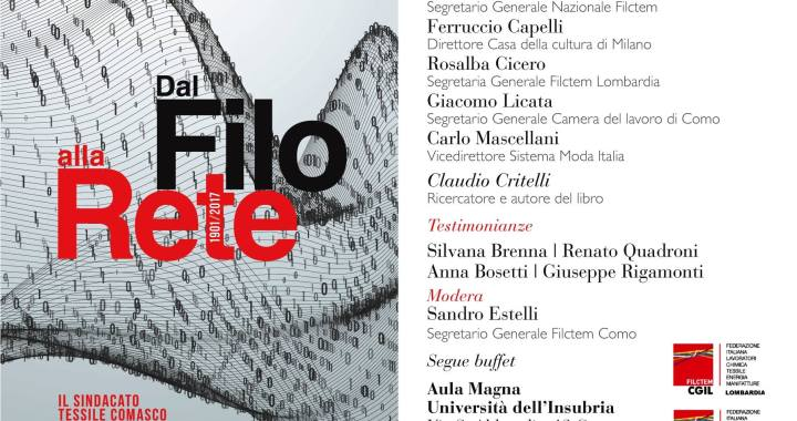 """9 maggio/ Claudio Critelli presenta """"Dal filo alla rete"""""""