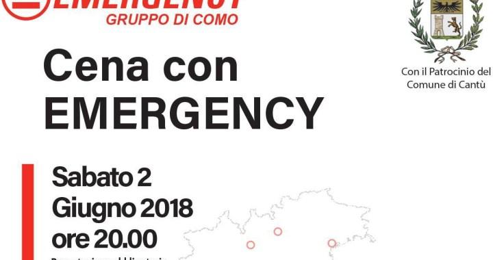 2 giugno/ Mariano Comense/  cena con Emergency