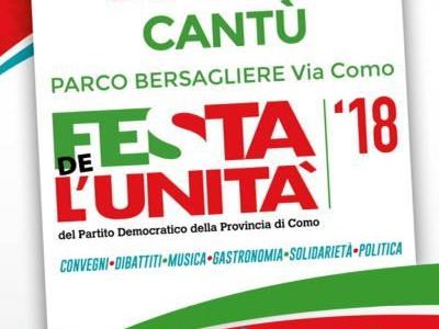 27-29 luglio/ Cantù/ Festa de l'Unità del Pd provinciale di Como