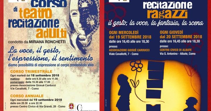 18 e 19 settembre/ Corsi di teatro Orizzonti Inclinati