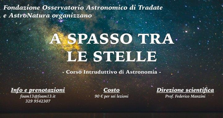 18 ottobre – 22 novembre/ Tradate/ A spasso tra le stelle : introduzione all'astronomia