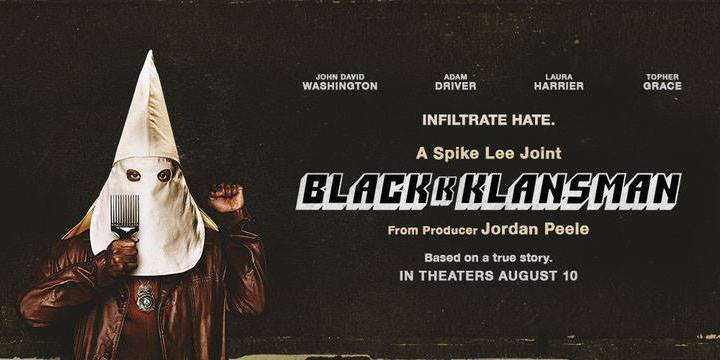 "18,20,21 ottobre/ ""BlaKKKlansman"" allo Spazio Gloria"