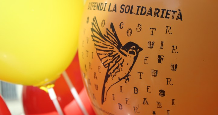 Difendi la solidarietà/ Presidio per i colpevoli di nulla