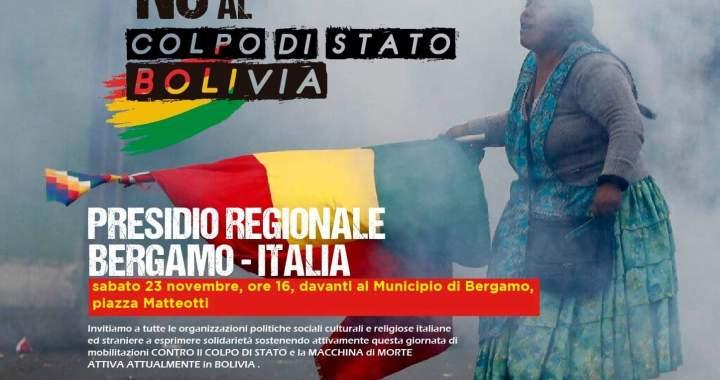 23 novembre/ Bergamo/ Anche l'Arci e Csf contro il golpe in Bolivia