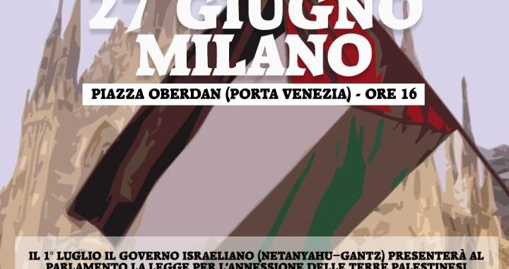 27 giugno/ Salaam Ragazzi dell'olivo/ Invito alla manifestazione delle Comunità palestinesi italiane