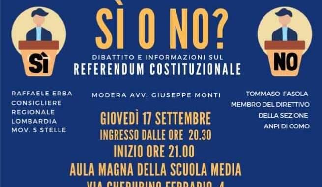 17 settembre/ Consulta Giovanile di Appiano Gentile/ Si o No?