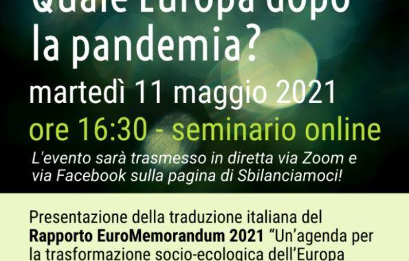 Diretta / Quale Europa dopo la pandemia?