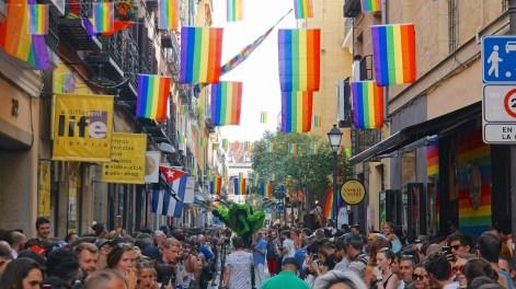 """CARRERA DE TACONES""High Heel Race, Madrid Pride, Calle Pelayo 2015"