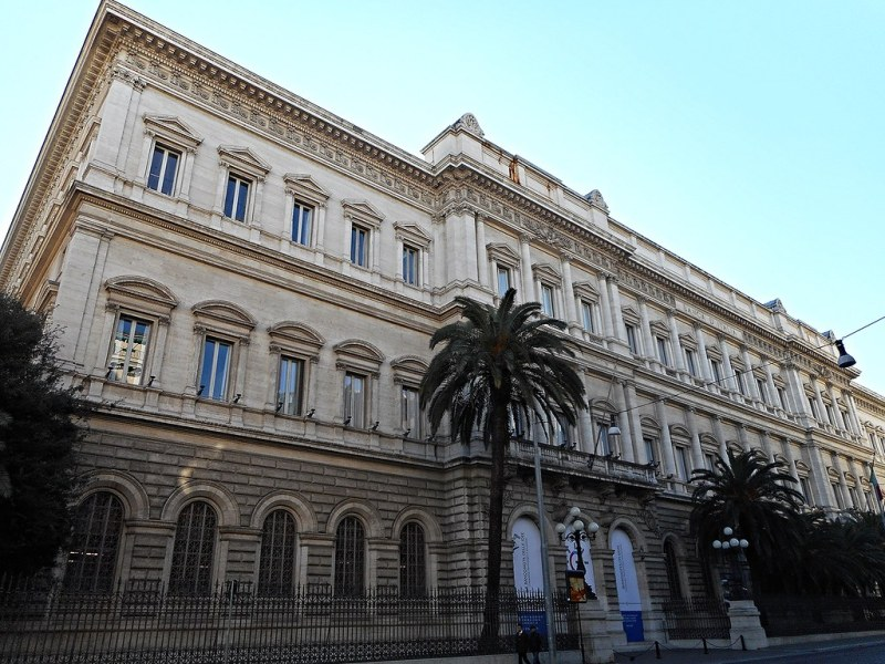 Banca d'Italia Palace in Rome