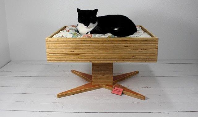 ideas de camas  gatos  objetos reciclados