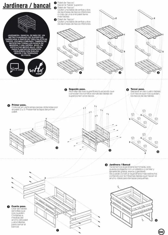 Planos para construir muebles reutilizando palets for Programa para armar muebles