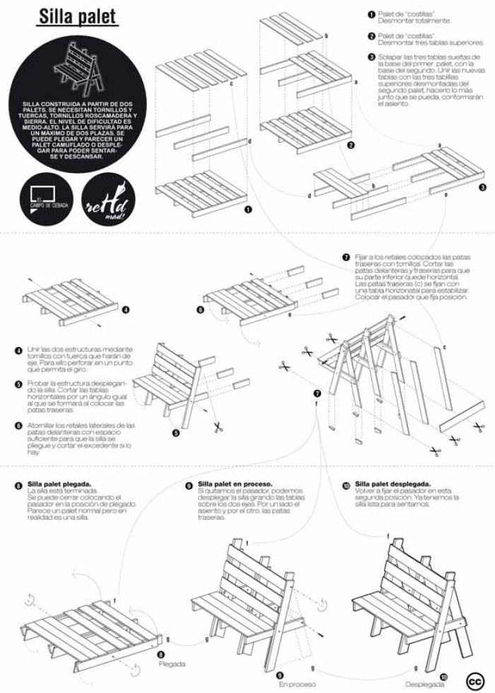 Planos para construir muebles reutilizando palets for Materiales para hacer un piso