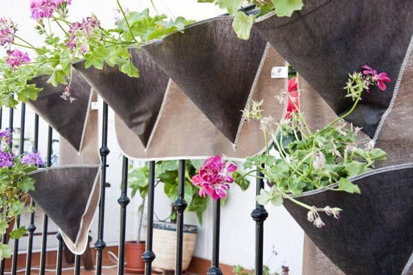 huerto en casa jardineras