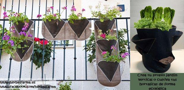 Ideas para montar un huerto vertical - Jardineras caseras ...