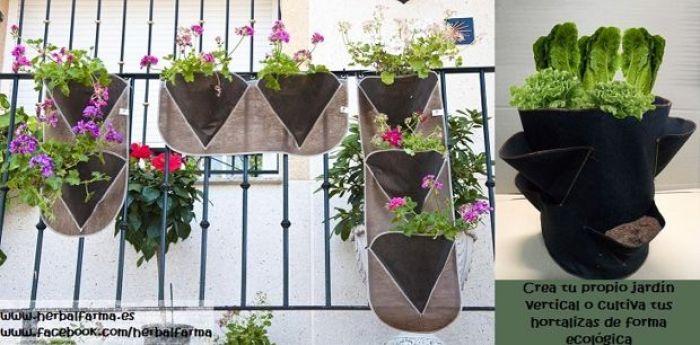 Jardineras para huerto en casa