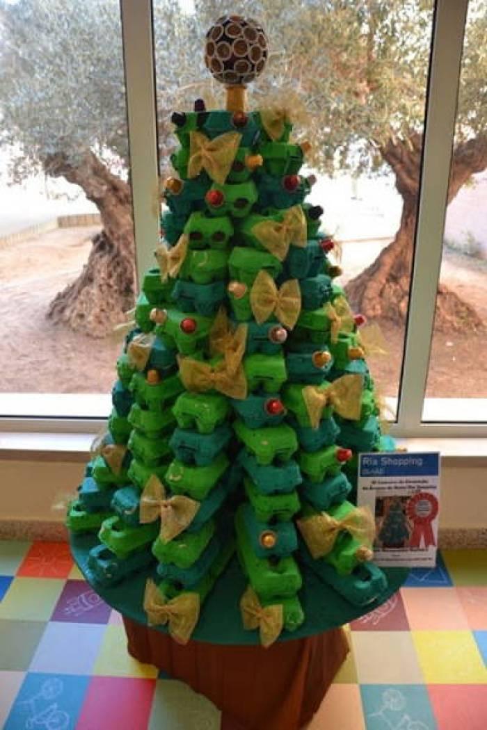 arbol navidad reciclado carton huevera - Arbol De Navidad De Carton