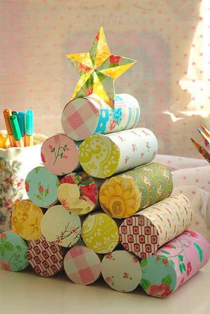 arbol-navidad-rollo papel