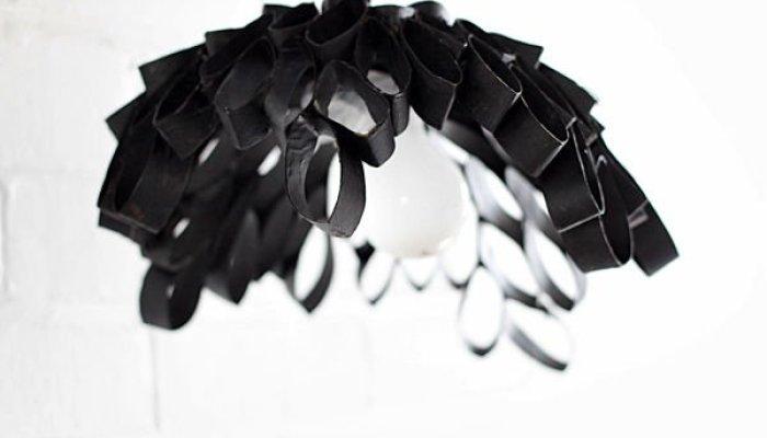Como hacer una lámpara con rollos de papel higiénico