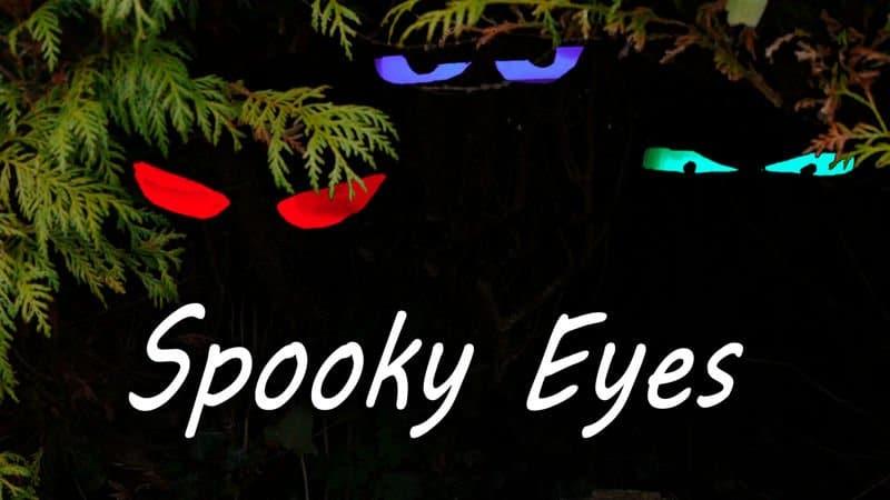 Cómo hacer unos ojos fantasmagóricos que brillan en la oscuridad