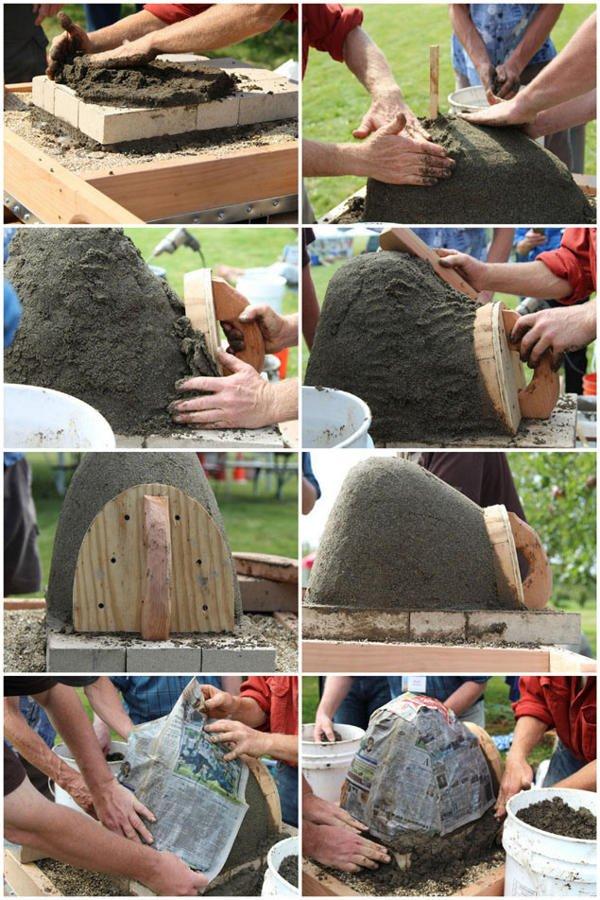 Paso 3 Crear el horno de arena horno de leña