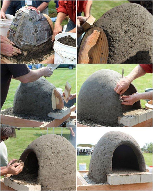 Paso 4 Crear la capa térmica horno de leña